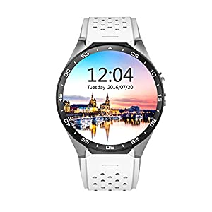 AWOW KW88 3G WIFI Android 5.1 Smartwatch – KingWare All-In-One Smart Watch With Nano SIM Card Slot GPS Camera Heart Rate…