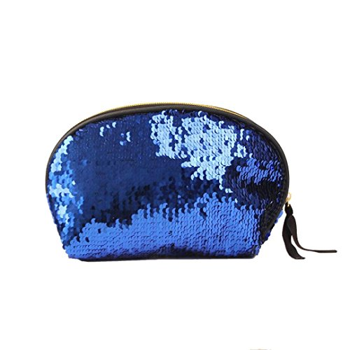 for Bag Handbag Cluthes Wallet Sequins Women Lavany Bag Zipper Blue Women Double Color vxpTwnwqF
