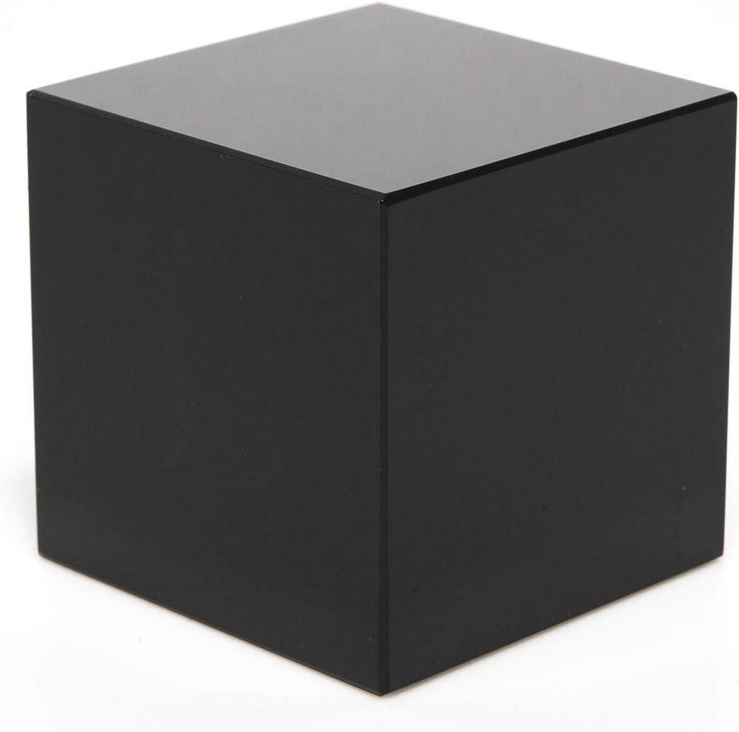 Little Rock Peana Pedestal de Cristal Negro 4x4x4 (Cubo): Amazon.es: Juguetes y juegos