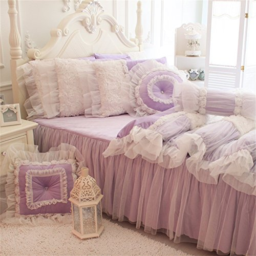 4PCS Butterfly Princess Bed Sets (Yellow) - 9