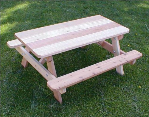 Red Cedar Kid's Picnic Table