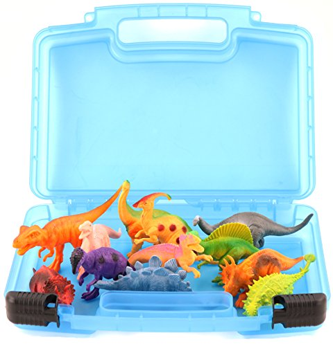 [Life Made Better Toy Storage Organizer. Fits Up To 15 Dinosaurs Figures. Compatible With Kidwerkz Dinosaur Figures , Prextex Dinosaur Figures And Fun Express Dinosaur] (T Rex Costume Video Inflatable)