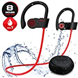 [Designed for Sport] Y2 Bluetooth Headphones, Wireless Headphones Earbuds with Mic, HD Stereo/Upgraded Fitter/Waterproof Sport Workout Running Wireless Bluetooth Earbuds Earphones for Android iPhone
