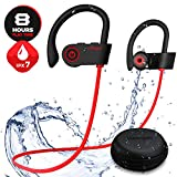 【Enhanced Waterproof】 Bluetooth Headphones, Y2 Wireless Earbuds Headphones with Mic,Surround Stereo/Secure Fit, Sport