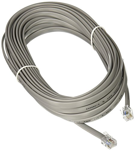 C2G 08133 RJ12 Modular Telephone Cable, Silver (25 Feet, 7.62 Meters)
