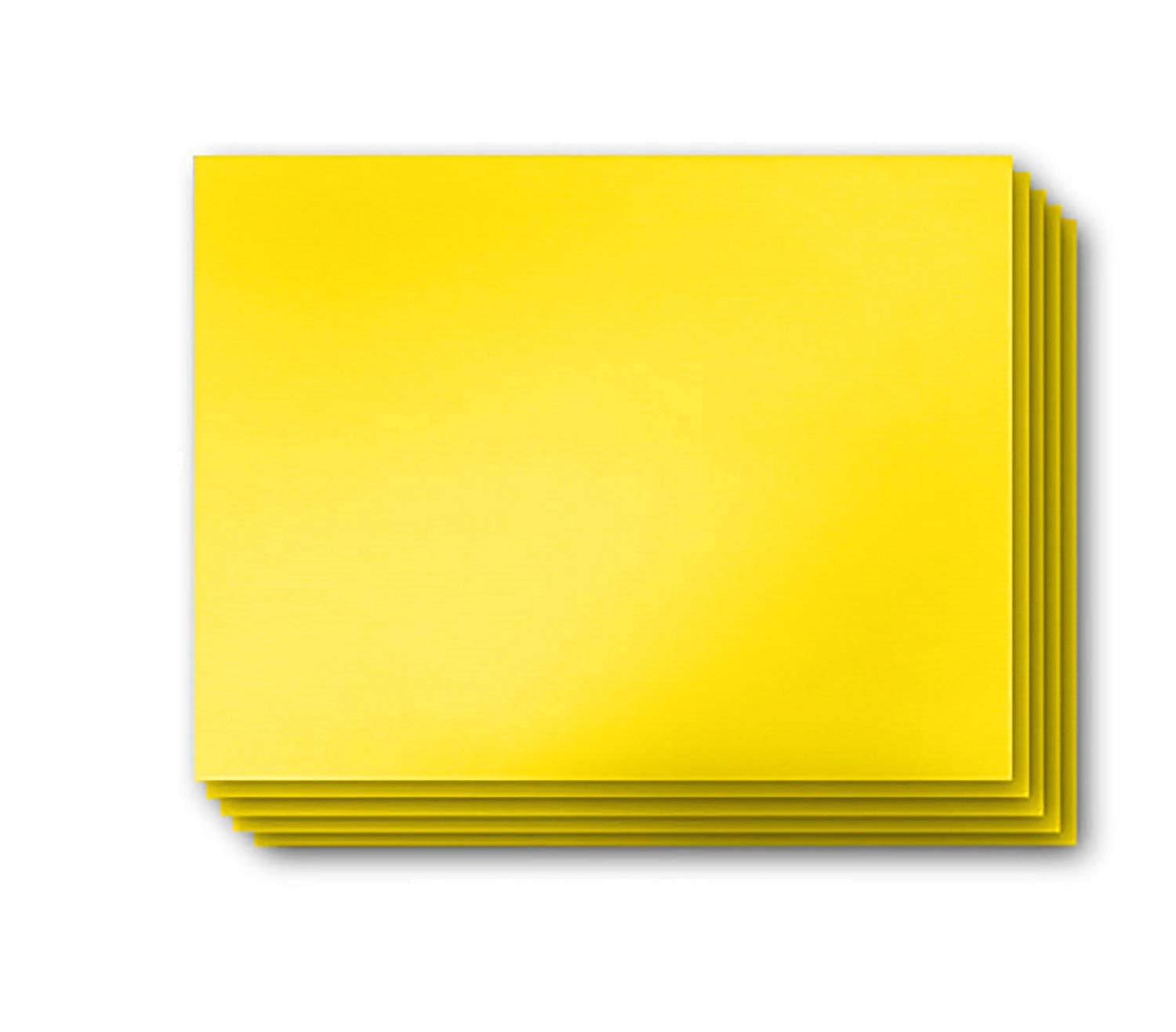 Vibe Ink 4MM Yellow Blank Signs 24'' x 18'' Sheets High Grade Corrugated Plastic Short-Flute Indoor/Outdoor - Bulk Bundles (25)