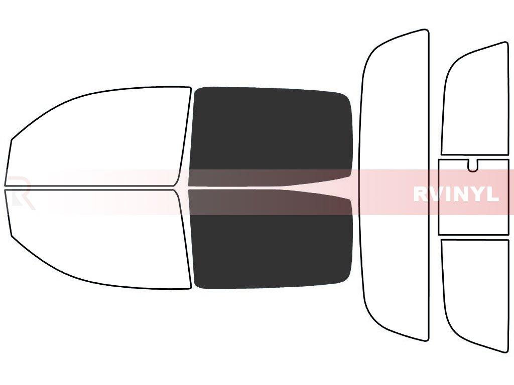 4 Door 5/% - Rear Windshield Kit Rtint Window Tint Kit for Toyota Tacoma 2005-2015