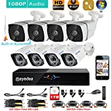 Eyedea H 1080P 8 CH DVR Audio Night Vision Video Surveillance CCTV Security Camera System 1TB Hard drive