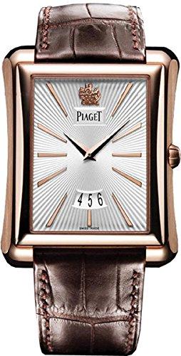 Piaget Piaget Emperador Plata Dial Brown Cuero Mens Reloj G0A32121: goldia: Amazon.es: Relojes