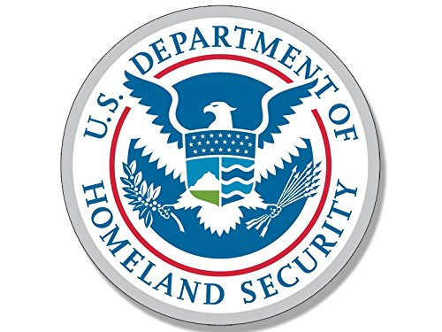 Homeland Security Seal - American Vinyl Round Dept of Homeland Security Seal Sticker (Logo DHS Insignia)