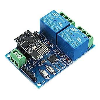 12V ESP8266 Dual WiFi Relay Module Internet Of Things Smart