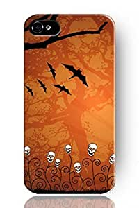 THYde SPRAWL New Beautiful Vintage Design Personalized Hard Plastic Snap on Slim Fit Halloween Skeleton and Bats Iphone 4/4s Case for Girls ending