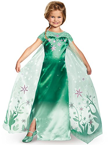 Elsa Frozen Fever Deluxe Costume, One Color, Medium (7-8) - Frozen Dresses Elsa