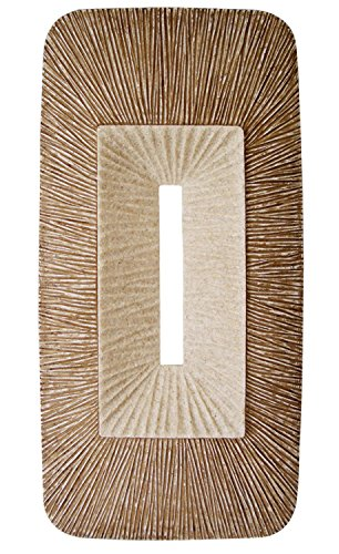 Rectangle Ribbed Plaque Wall Art - Set of 2