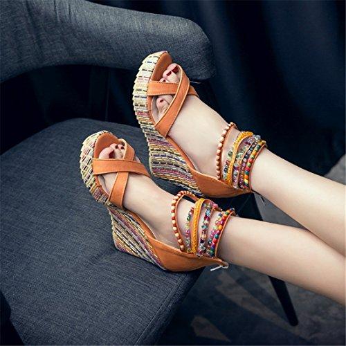Color Sandalias de con Playa Mujer Sandalias para Sandalias Pulsera Sandalia Mujer Zapatos Zapatos Sandalias Sandalias Orange Sandalias de Mujer wFU8q1