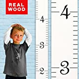 Growth Chart Art | Wooden Ruler Height Chart for Kids, Boys and Girls | Durable, Portable and Beautiful Height Measurement | White with Black Numerals