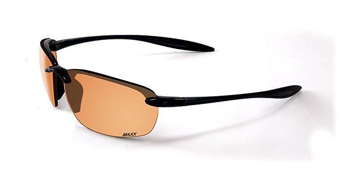 eb643e7a85 2017 Maxx Sunglasses Maxx 5 Black Frame TR90 HD Amber Lenses at ...