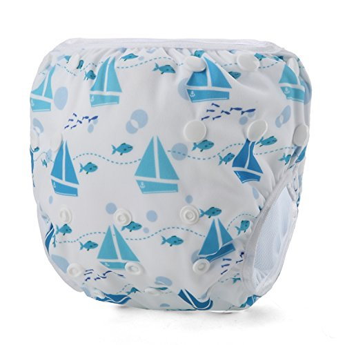 Storeofbaby Baby Swim Diaper for Baby Leakproof Reusable Adjustable Infant 0 3 Years (Swimpant15)