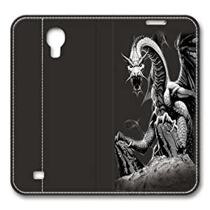 Black Dragon Smart Case Cover with Back Case for Samsung Galaxy S4/I9500
