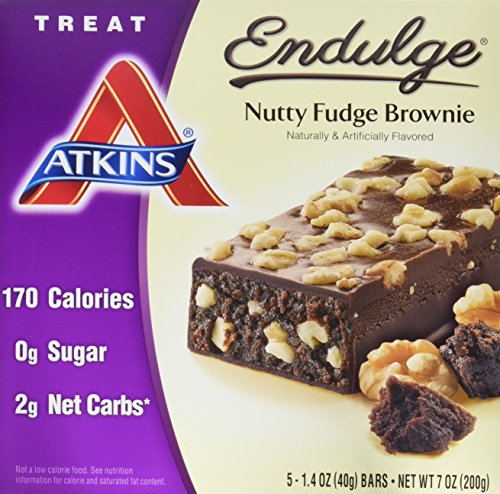 Nutty Fudge - Atkins Endulge Treat Nutty Fudge Brownie, 5 Count (Pack of 6)