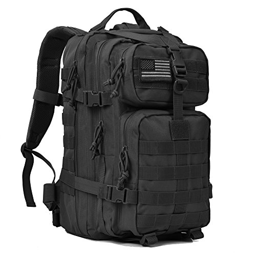 Military Tactical Backpack Small 3 Day Assault Pack Army Molle Bug Out Bag Backpacks Rucksack for Outdoor Sport Travel Hiking Camping Hunting Daypack 35L Black