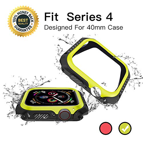 40mm iwatch Case, Apple Watch Series 4 Bumper Screen Protector Accessories, Hard Face Cover, Replacement Waterproof Sport Case, Nike+, Edition
