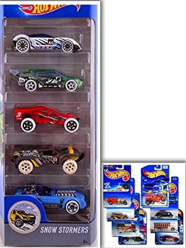 Hot Wheels Showdown Bundle: Snow Stormers 5 Pack: HWTF Buggy, Loop Coupe, Piledriver, Golden Arrow, Dune Crusher & 1 Die Cast Metal (Abc 13 Days Of Halloween)
