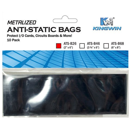 Metalized Static Bags Anti - Kingwin 2-Inch x 6-Inch Anti Static Bag (ATS-B26)