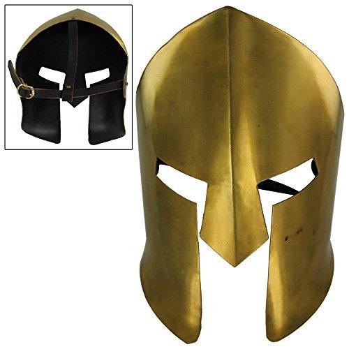 Ancient Greek Military Costume (Ancient Greek Spartan Brass Battle Mask)