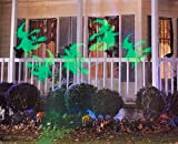 Lightshow Strobing LED Halloween Chasing Chasing Green Witch Strobe Spotlight Whirl-a-Motion