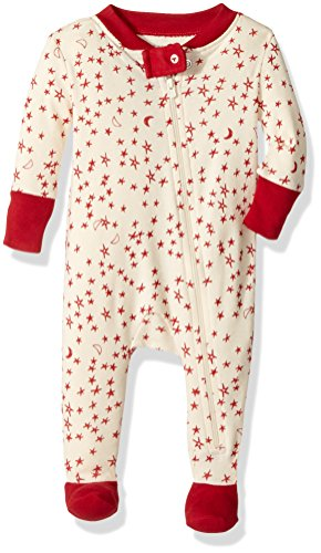 Burt's Bees Baby Unisex Baby Organic Front Zip Sleeper, Star Bright, 6-9 Months