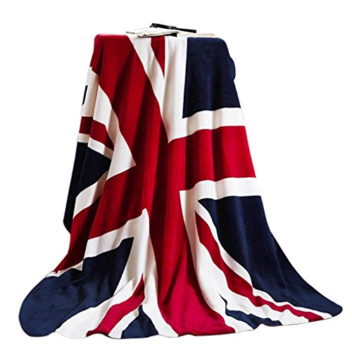 - USA/Union Jack Flag Bed Blanket Luxury Fleece Blanket Great British Flag Chair Cabin Sofa Couch Blanket Warm Soft Plush Travel Blanket Bedspread Cover Beach Throw Blanket (USA Flag Blanket)