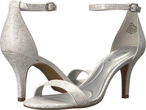 Bandolino Women's Madia Heeled Sandal, Silver, 9.5 M (Bandolino Leather)