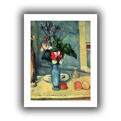 Art Wall The Blue Vase' Unwrapped Canvas Artwork by Paul Cezanne, 52 by 40-Inch Cezanne Canvas Vase