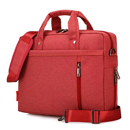 Laptop Case,SNOW WI- 12-13.3 Inch Fashion Durable Multi-Functional Waterproof Laptop Shoulder Bag Briefcase Case for MacBook Air,MacBook Pro,Acer,Asus,Dell,Lenovo,HP,Samsung,Sony,Toshiba(Red)