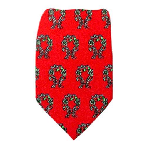 B-X-7 - Red - Green - Boys Christmas Theme Tie