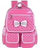 Kids Waterproof Backpck Schoolbag Pink