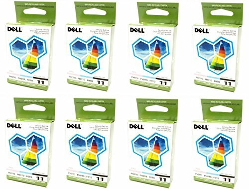 8-LOT Bulk Genuine Dell Series 11 Photo JP455, DX518 Standard Ink Cartridge For Printer Models 948, V505, V505w (Dell V505w)
