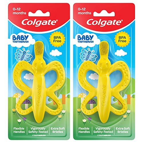 Colgate Palmolive Cleaner (Colgate Baby Toothbrush and Teether, Bpa Free, 2 Count)