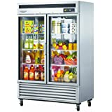 Turbo Air MSR49G2 49 cu.ft Refrigerator with 2 Glass Doors Digital Temperature Control System High Tech Monitor High-Density Polyurethane Insulation and Stainless Steel Cabinet