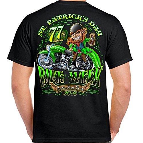 Biker Life USA 2018 Bike Week Daytona Beach St. Patty's T-Shirt (Daytona Bike Week 2018)