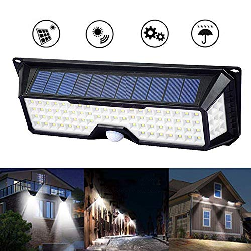 ECO LLC Solar Lights 136 LED Waterproof Outdoor Wall Lights Wireless Solar Motion Sensor Lights for Front Door,Backyard, Garage,Porch,Deck, Driveway(4 Pack) by ECO LLC (Image #2)