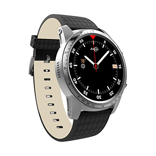 AllCall Bluetooth Smartwatch Phone Business Smart Watch Big momery 2gb RAM 16gb ROM Fitness Tracker,Google iOS Assistant Support Sim GPS Built-in Quad core Fast Performance (Silver)