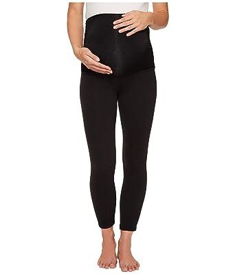 e380ac21bdb9b7 Beyond Yoga Women's Fold-Over Maternity Leggings Jet Black Pants at ...