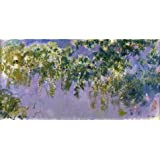 high quality polyster Canvas ,the High Definition Art Decorative Prints on Canvas of oil painting 'Wisteria, 1917-1920 By Claude Monet', 18x36 inch / 46x91 cm is best for Study gallery art and Home decor and Gifts