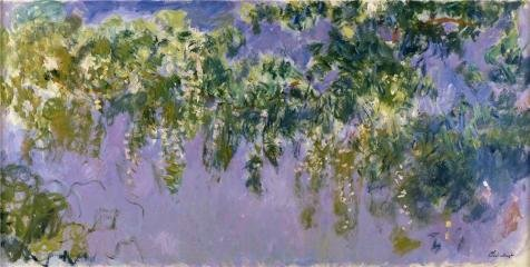 Oil painting 'Wisteria, 1917-1920 By Claude Monet' printing on Perfect effect Canvas , 8x16 inch / 20x40 cm ,the best Living Room decoration and Home artwork and Gifts is this Art Decorative Prints on Canvas