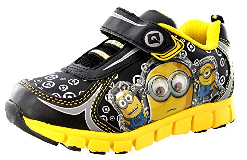 Despicable Me Boys BLK-YLW ATH Shoe Sneaker, Black, 9 Child US Toddler