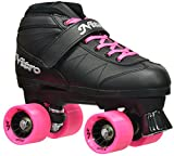 Epic Skates Epic Super Nitro Pink Quad Speed Roller Skates Pink, Black