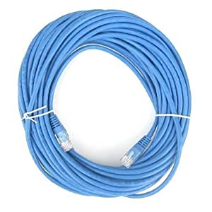 C&E Cat5e Ethernet Patch Cable, Snagless/Molded Boot 50 Feet Blue, 877083042452
