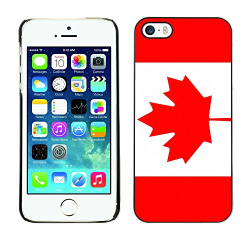 STPlus Canada Canadian Flag Hard Cover Case for Apple iPhone 5 / 5S